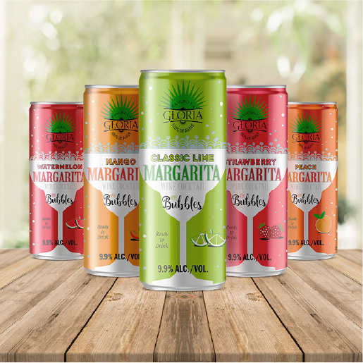 five cans of margarita